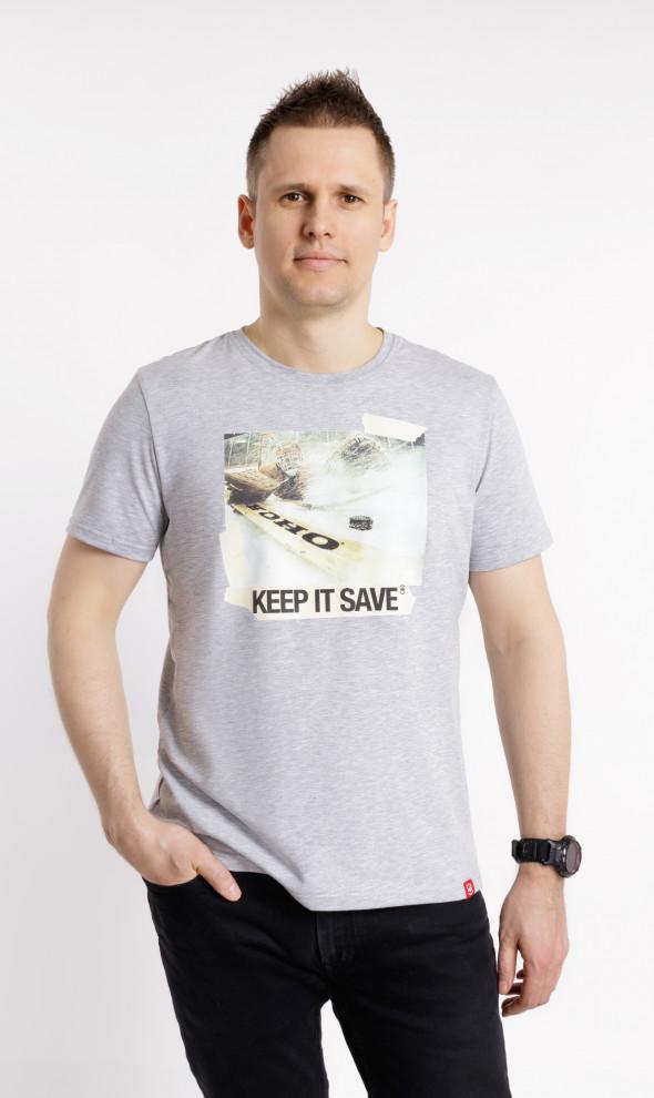 Футболка Keep it save Gray