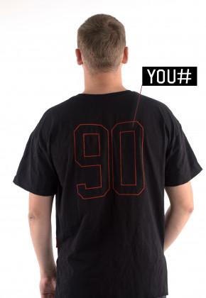 Футболка Mark Wear Pulse Black с вашим номером
